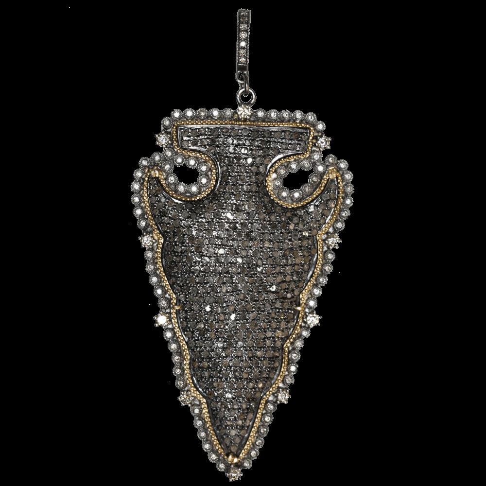 Burnished-Set Holly Pendant by Dana Bronfman   LaNae Fine