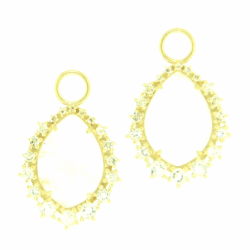 Closeup image for View Delicate Provence Champagne Hoop Earrings By Jude Frances