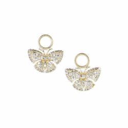 Closeup image for View Simple Clover Diamond Trio Earring Charm By Jude Frances