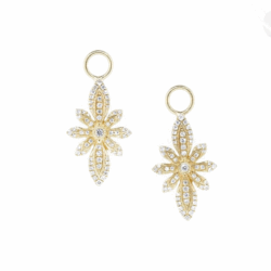 Closeup image for View Tiny Criss Cross Wrapped Pear Stone Earring Charms By Jude Frances