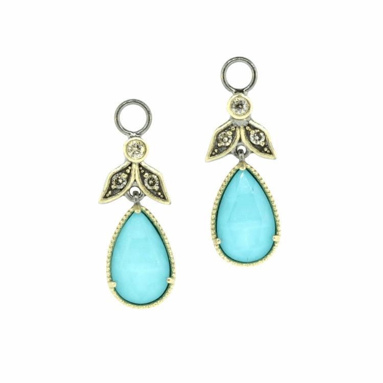 Angel Turquoise & Diamond Earring Charms