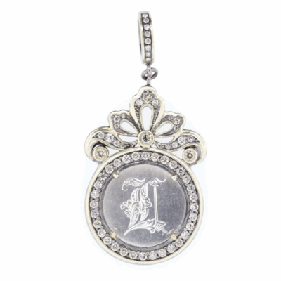 Classic white gold necklace with 0.40 carats of perfectly matched round brilliant bezel set diamonds.