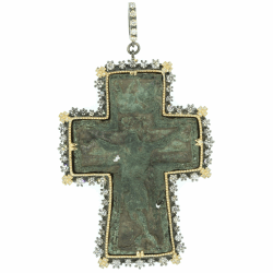 Closeup image for View Antique Art Deco Cross With Pearl  By Cynthia Ann Jewels