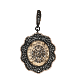 Closeup image for View 18K Evil Eye Pendant In Diamond By Temple St. Clair