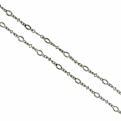 Collection: Old World Style #: 04281 Description: Blackened sterling silver and 18k yellow gold circle-link bracelet.Metal: .925 Sterling SilverS/18k Yellow Gold