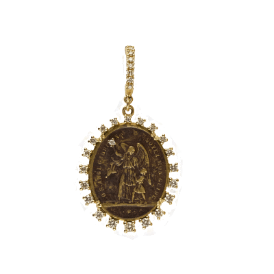 Natural pink diamonds set in 18K rose gold top flower and natural yellow diamond set in 18k yellow gold bottom flower with diamond center set in 18k white gold on white gold and pave diamond band. DIA: 1.15