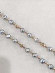 Closeup image for View Dna Spring Bracelet W/Bead Clasp - Ruthenium By Pesavento