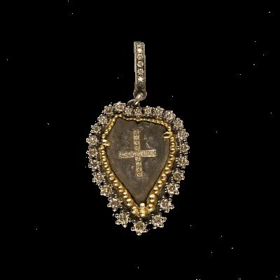 18 karat White Gold and Diamonds 0.90     total carat weight White, 1.84     total carat weight Black Diamonds. Imported. - 03-08-BL08-18