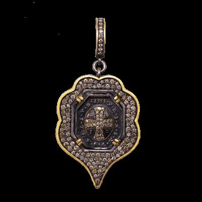 "Large Pave Diamond Lovestruck Necklace  14K Gold Diamonds Length 18"", 19"" and 20"" Adjustable Chain"