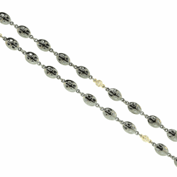 Closeup image for View Dna Spring Large Bead Necklace - Rhodium  By Pesavento