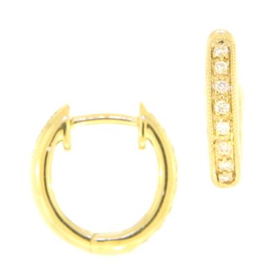 Yellow Gold Basic Diamond Huggie
