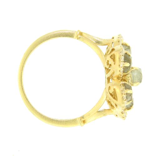 Flower Ring W Labradorite - alternate