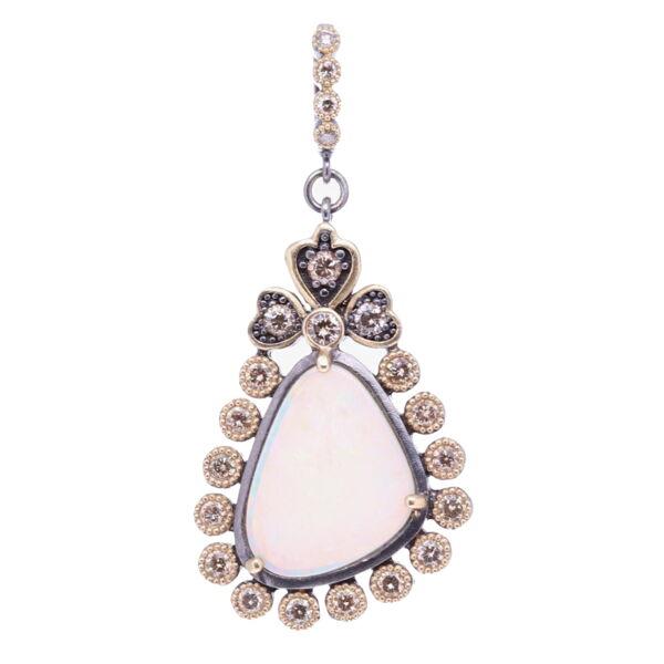 Closeup photo of Asymmetrical Opal Pendant