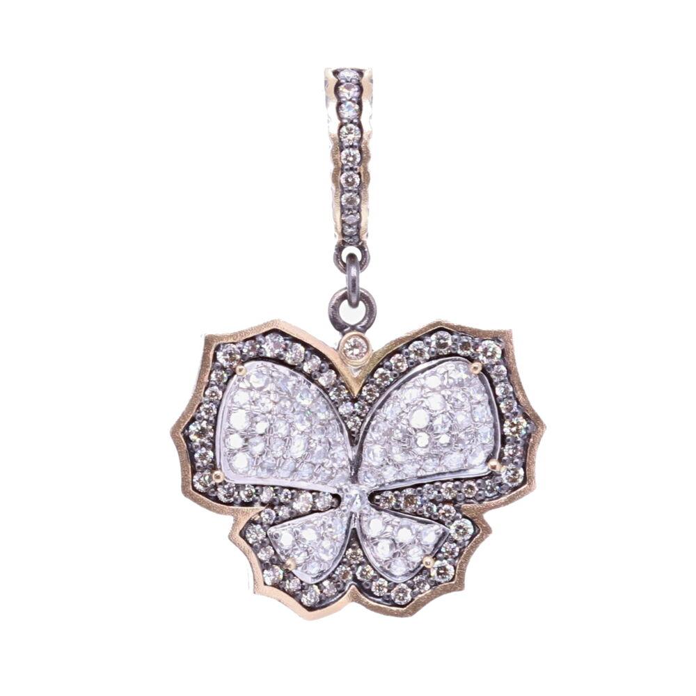 Diamond Butterfly Pendant