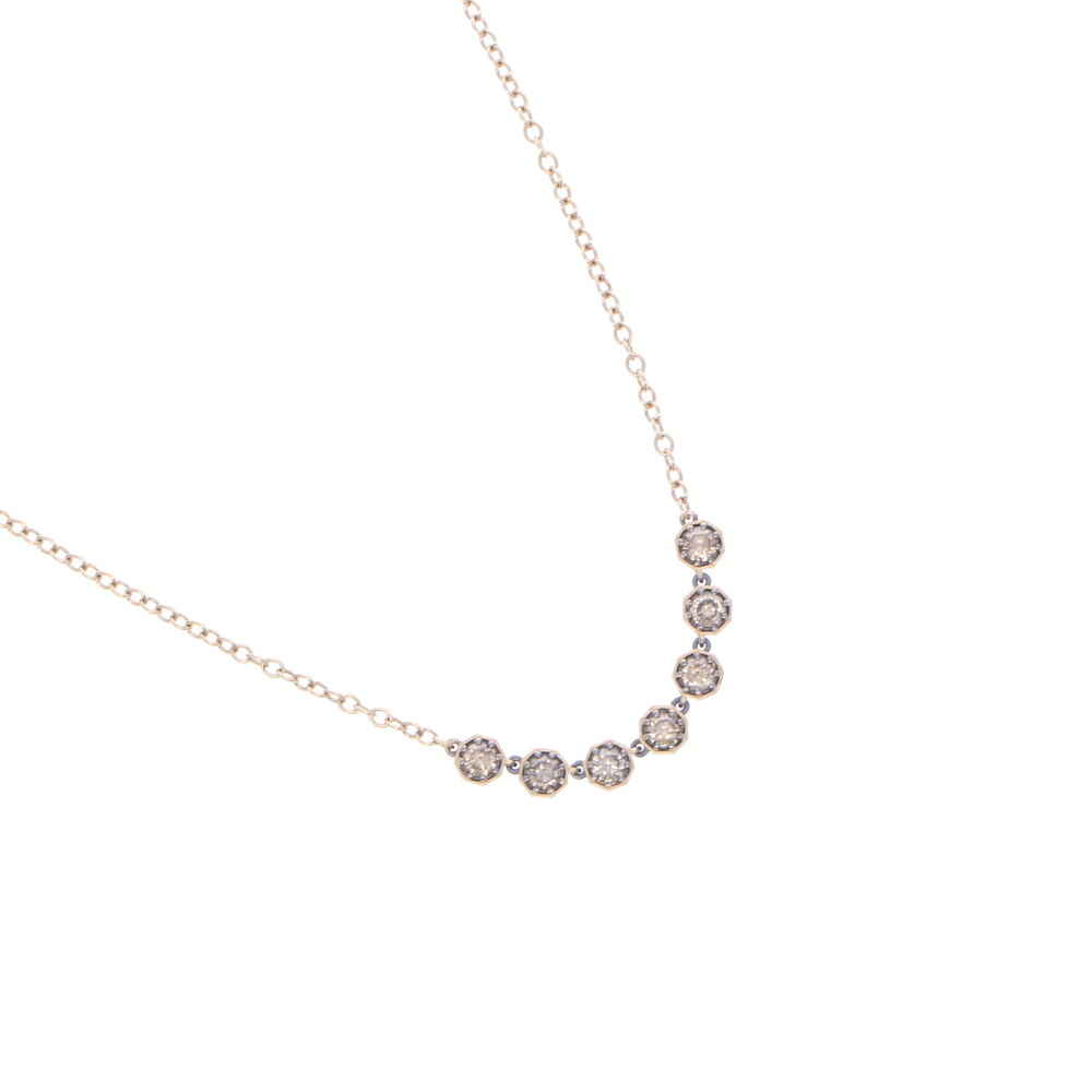 Image 2 for Diamond Bar Necklace 18""