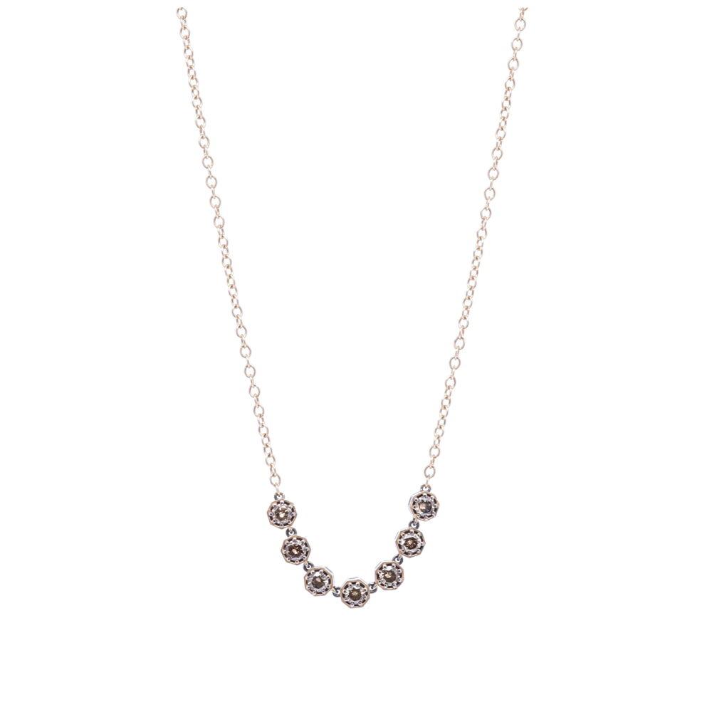 "Diamond Bar Necklace 18"""