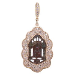 Closeup image for View Spanish St. Benedict With Diamond Cross Inlay By Cynthia Ann Jewels