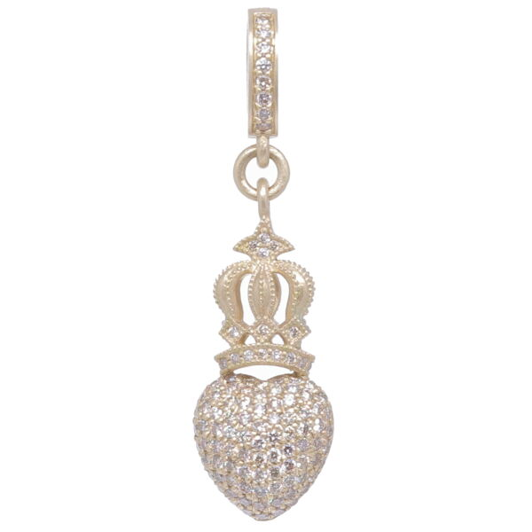 Closeup photo of Crowned Heart Pendant
