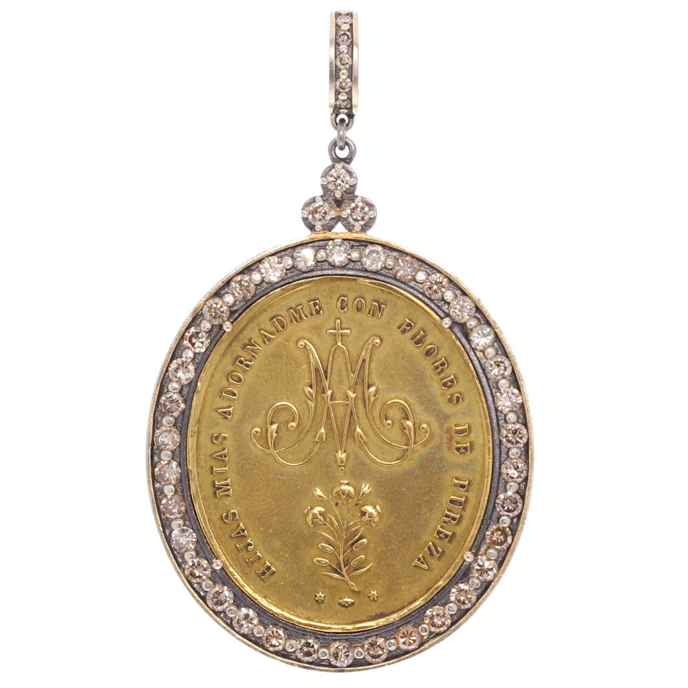 Ave Maria Daughters of Mary Pendant