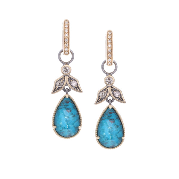 Closeup photo of Angel Diamond Earring Charms