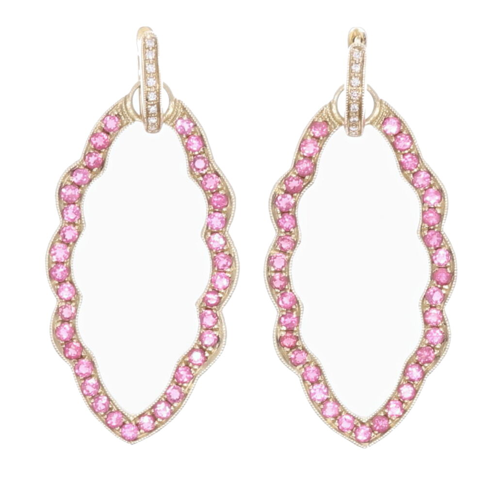 Marquise Pink Tourmaline Earring Charm Frames