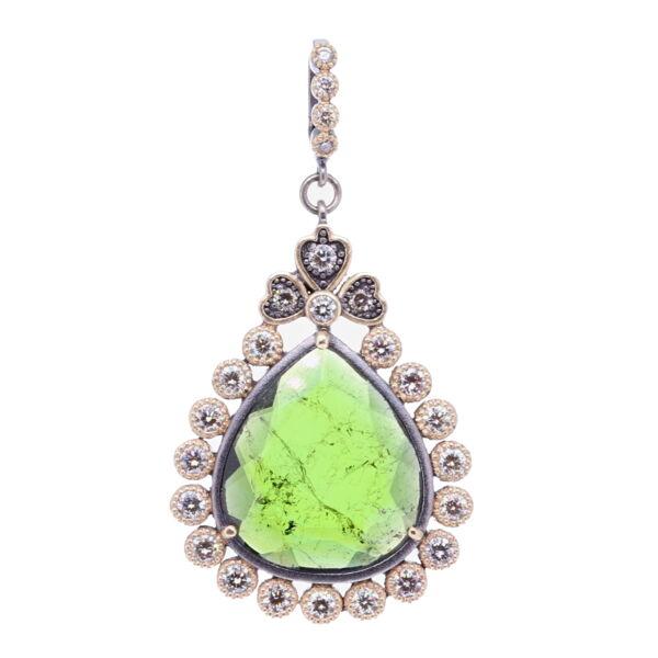 Closeup photo of Green Tourmaline Pendant