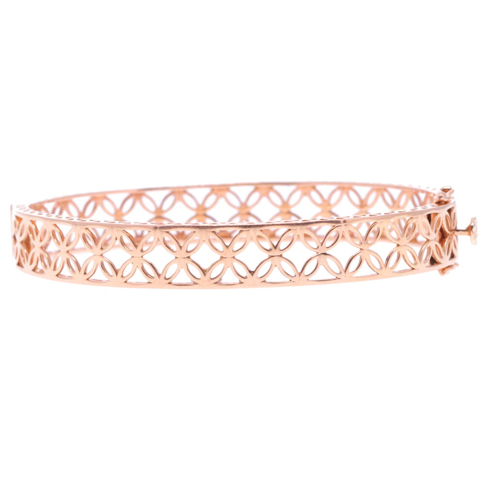 Lace Rose Gold Hinged Bracelet