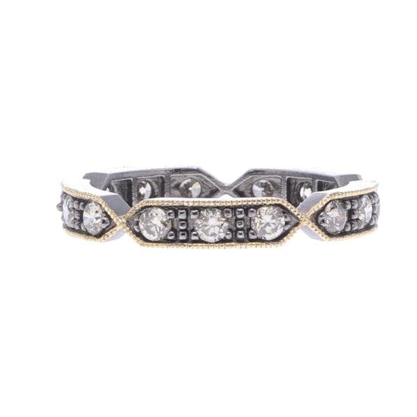 Closeup photo of Lizzie Diamond Eternity Band Ring