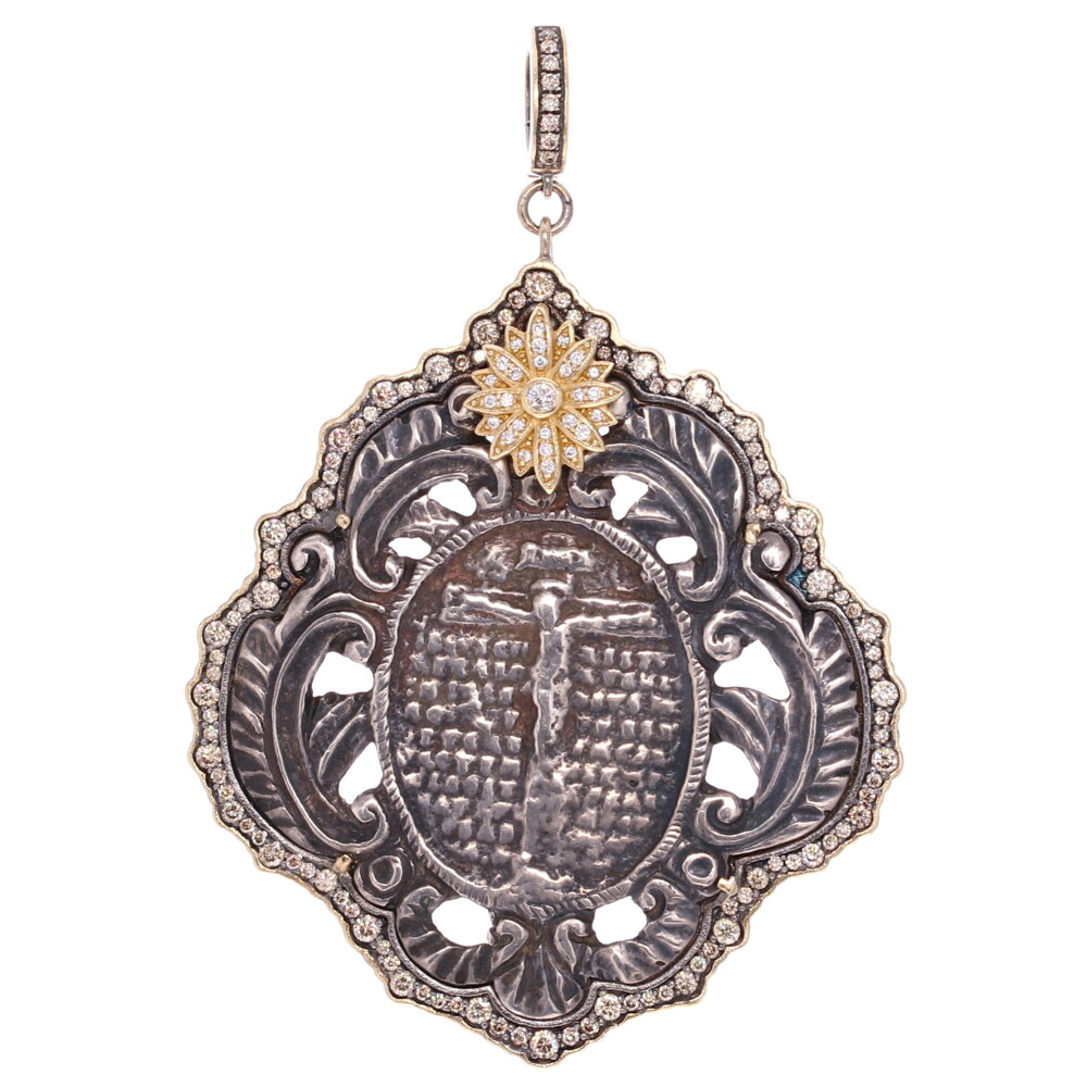 French Crucifix Medal Pendant