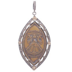 Closeup image for View Medieval Cross With Diamond Inlay  By Cynthia Ann Jewels