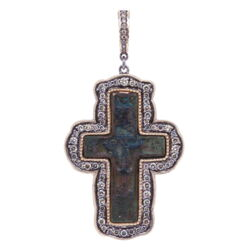 Closeup image for View Large Silver Crucifix With Star By Cynthia Ann Jewels