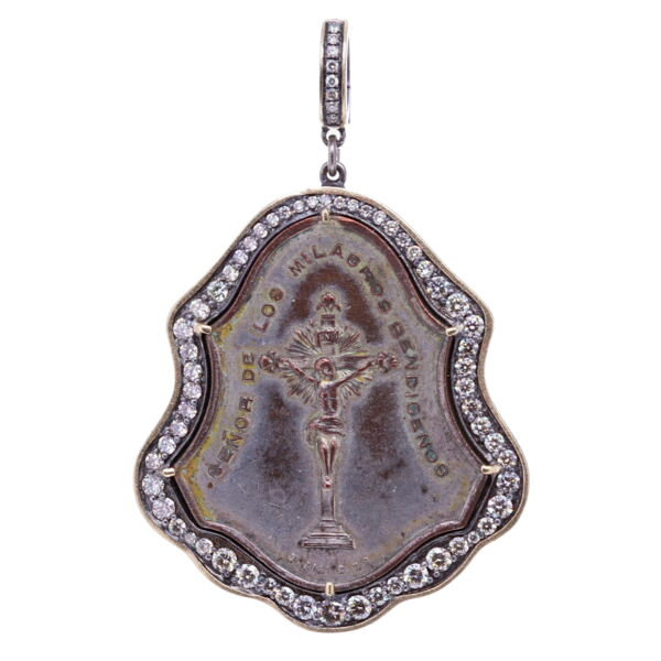 Closeup photo of Antique Lord of Miracles Pendant