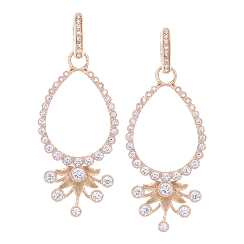 Diamond Flower Burst Earring Charm Frames