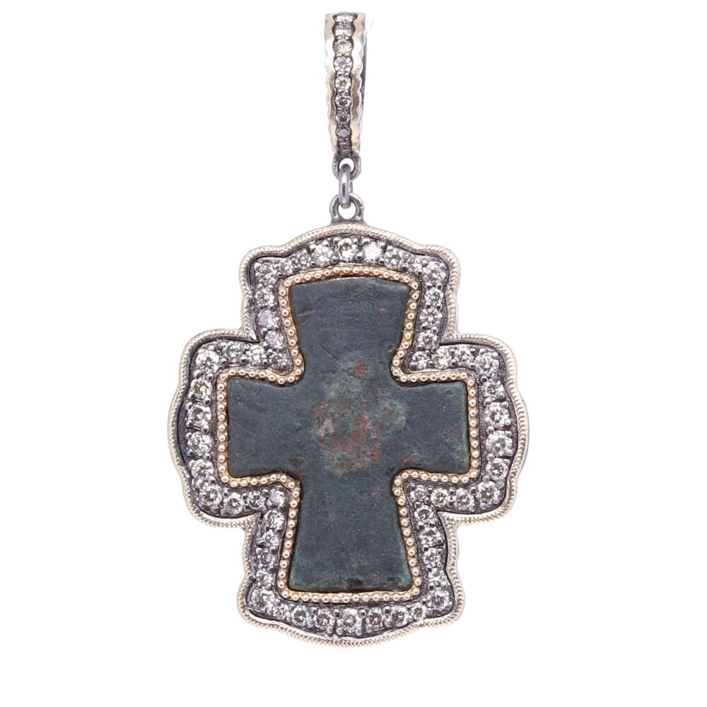 Byzantine Artifact Cross Pendant