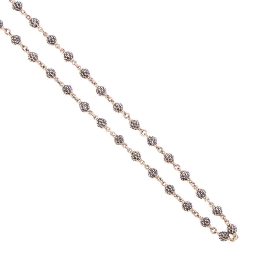 "Image 2 for Black Diamond Sphere Chain 17"""