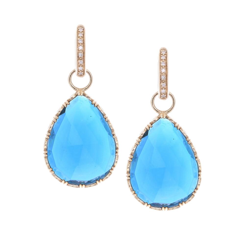 Cecilia London Blue topaz Pear Shaped Earring Charms