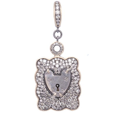 Cushion Cut Zircon and Pave Diamond RIng - Zircon: 20.64cts DIA: 0.59cts