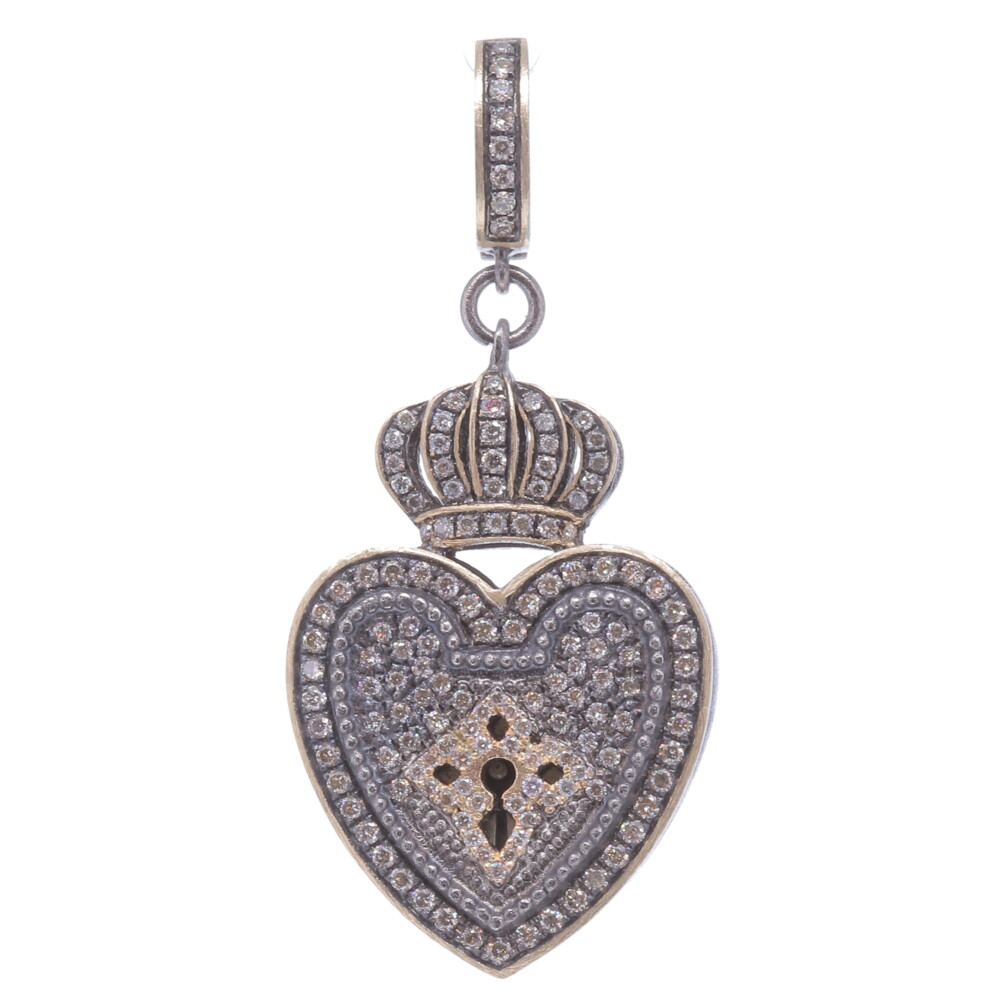 Image 2 for Vintage Heart Shaped Crowned Padlock