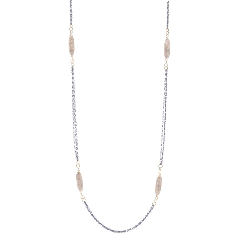 Limited Edition Yellow Oblong Diamond Chain 34""