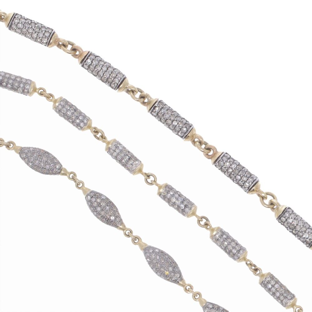 """Image 2 for Large Diamond Barrel Link Chain 24"""""""