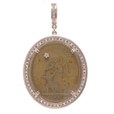 "Baroque Fresh Water Pearl and Diamond Drop Earrings 18K White Gold Diamond Hook Ink Fresh Water Pearls 17.3MM Pearls Length 1.5"""