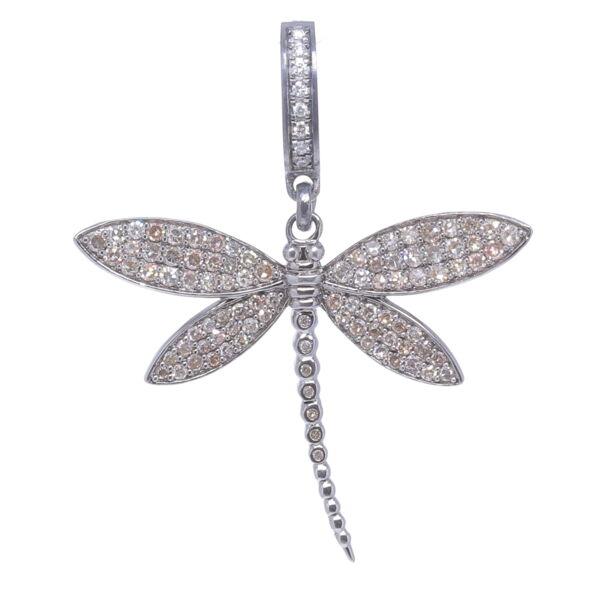Closeup photo of Dragonfly Diamond Pendant
