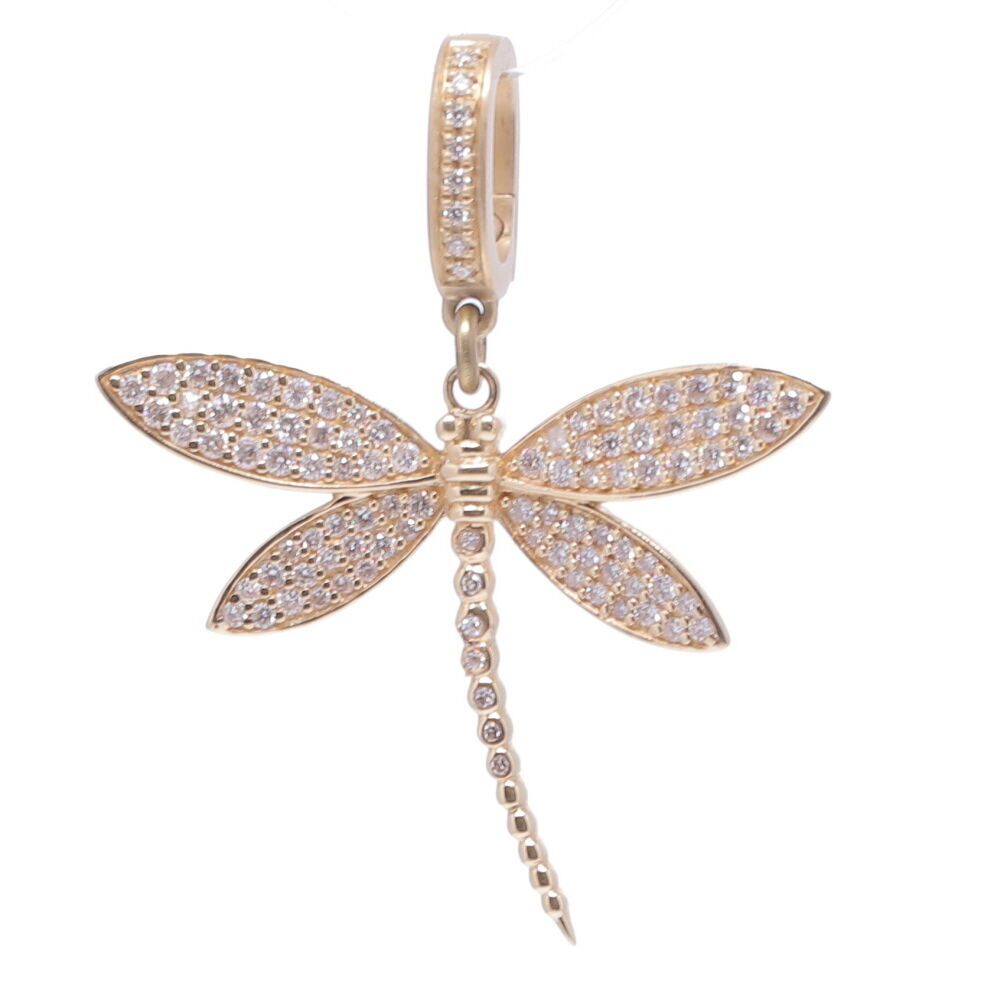 Dragonfly Diamond Pendant