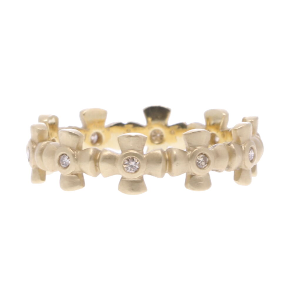 Gold Cross Eternity Ring