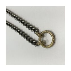 """Closeup image for View Love Token Engraved """"T"""" With Shine Bezel  By Cynthia Ann Jewels"""