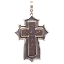 Closeup image for View 18K Diamond Cross With Chain By Estate