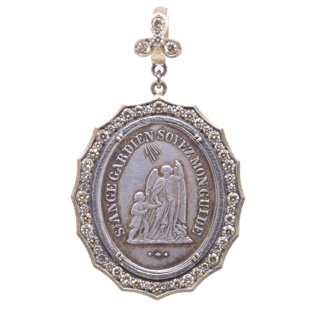 1800's French Guardian Angel Pendant