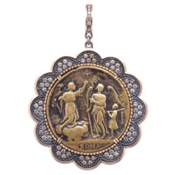 Closeup photo of Roma Guardian Archangel Pendant