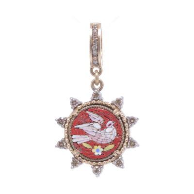 Tahitian Keshi Pearl 2 Encrusted Diamonds 18k Necklace