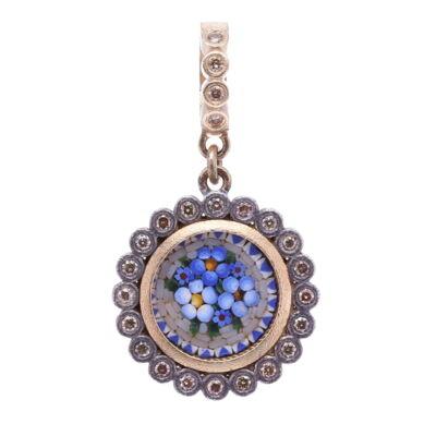 14k Mini Diamond Huggie Earring DIA:  .04ctw0